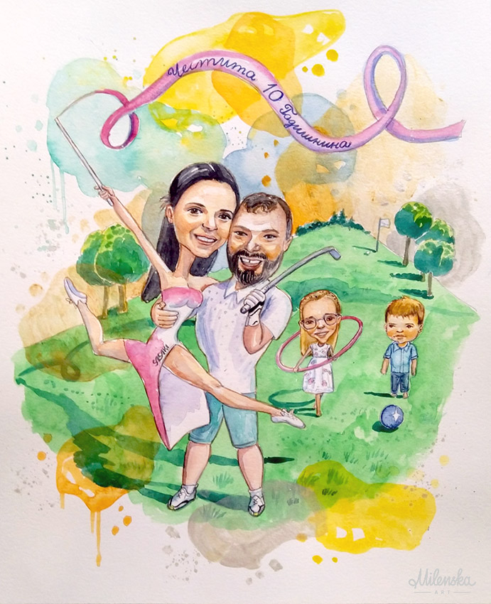 Caricature Illustration for Anniversary