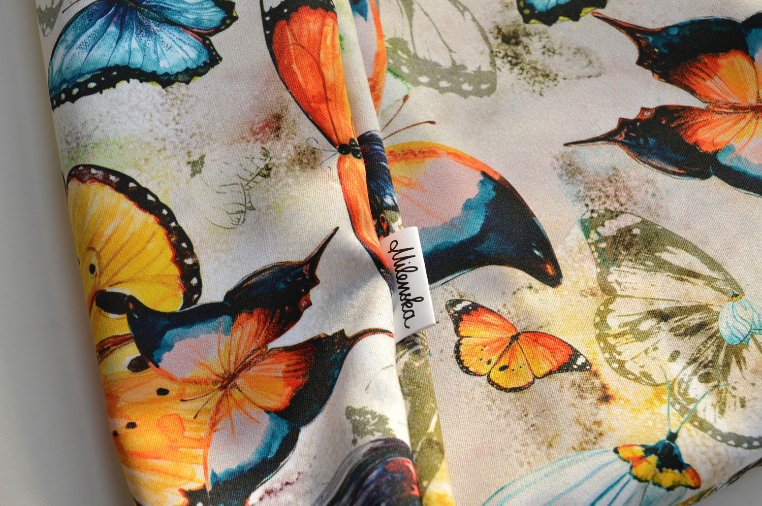 Butterfly fabric design by Milena Gaytandzhieva Artist