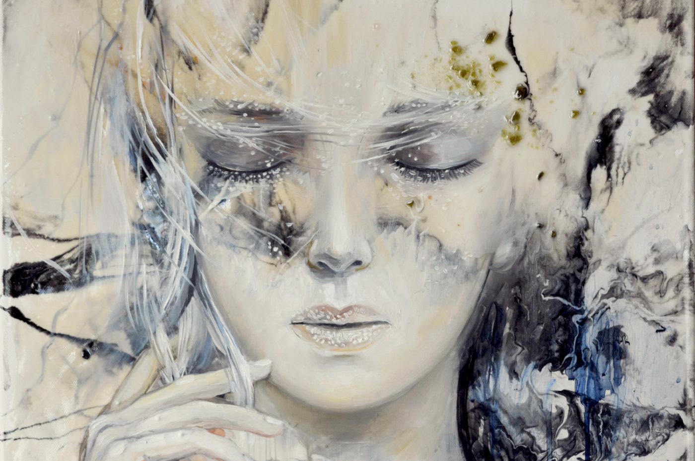 Marble resin art by Milena Gaytandzhieva artist