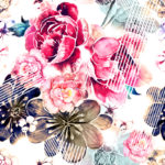 Floral Art Print on Fine Art Paper by Milena Gaytandzhieva 50x50 cm