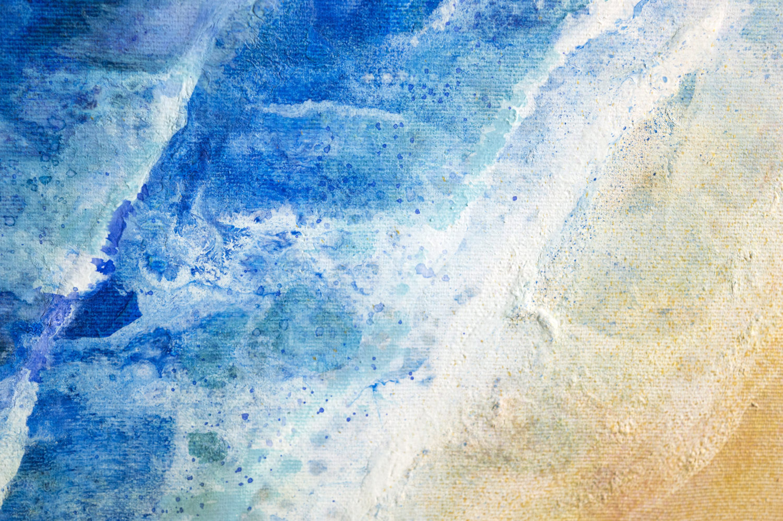 Original Seascape Art by Milena Gaytandzhieva, Mixed Media Art, size: 50x50 cm