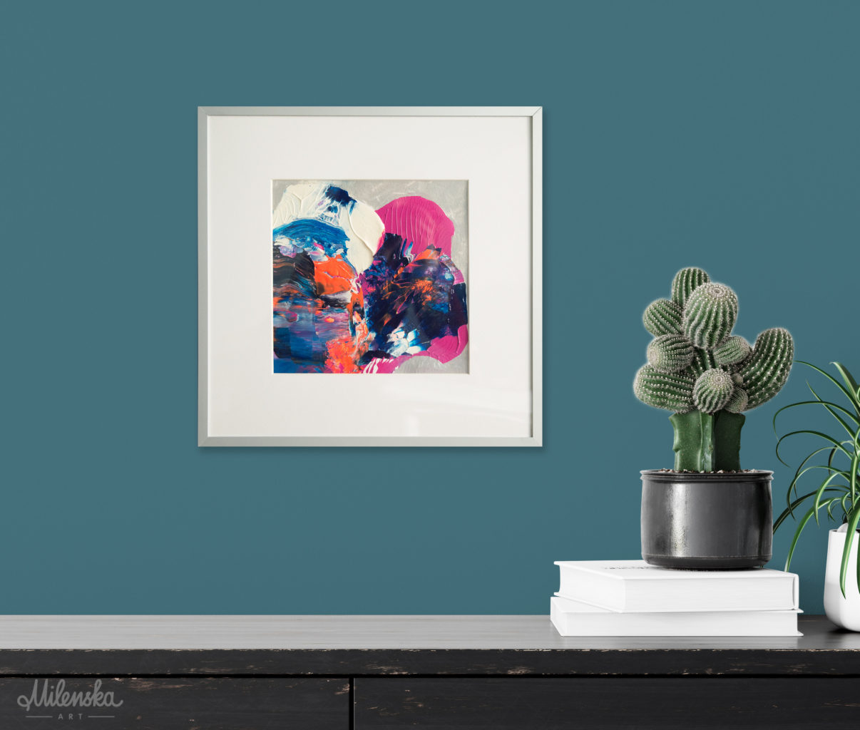 Small Original Abstract Painting by Milena Gaytandzhieva