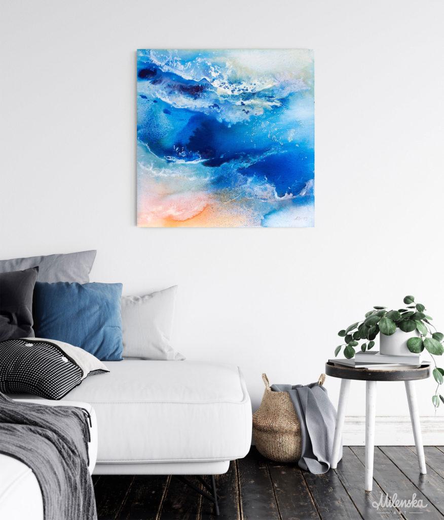 Seascape acrylic painting by Milena Gaytandzhieva, size: 50x50cm/20x20 inches