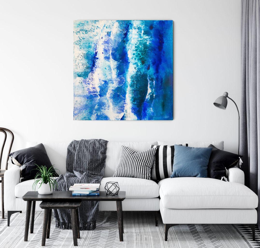 Black sea - original mixed media painting by Milena Gaytandzhieva