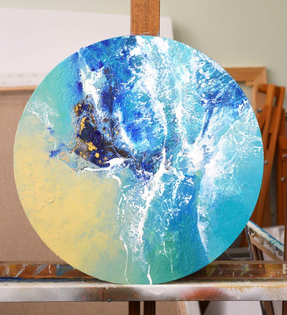 Marina 3 - original mixed media painting by Milena Gaytandzhieva