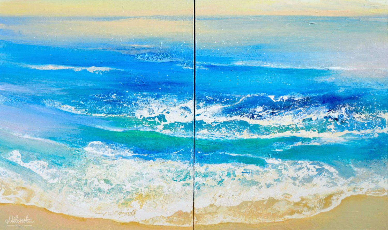 Seascape Diptych by Milena Gaytandzhieva