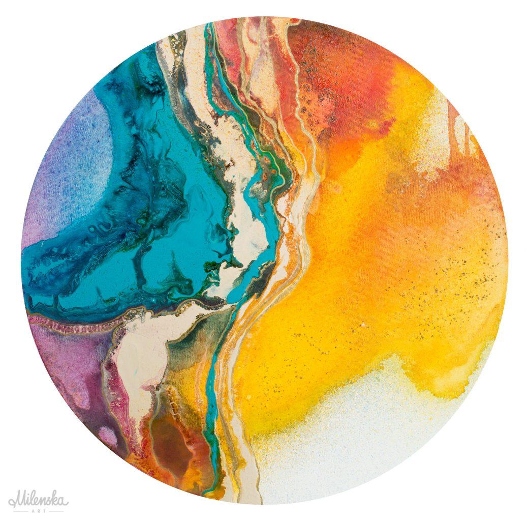 Fusion - original round painting