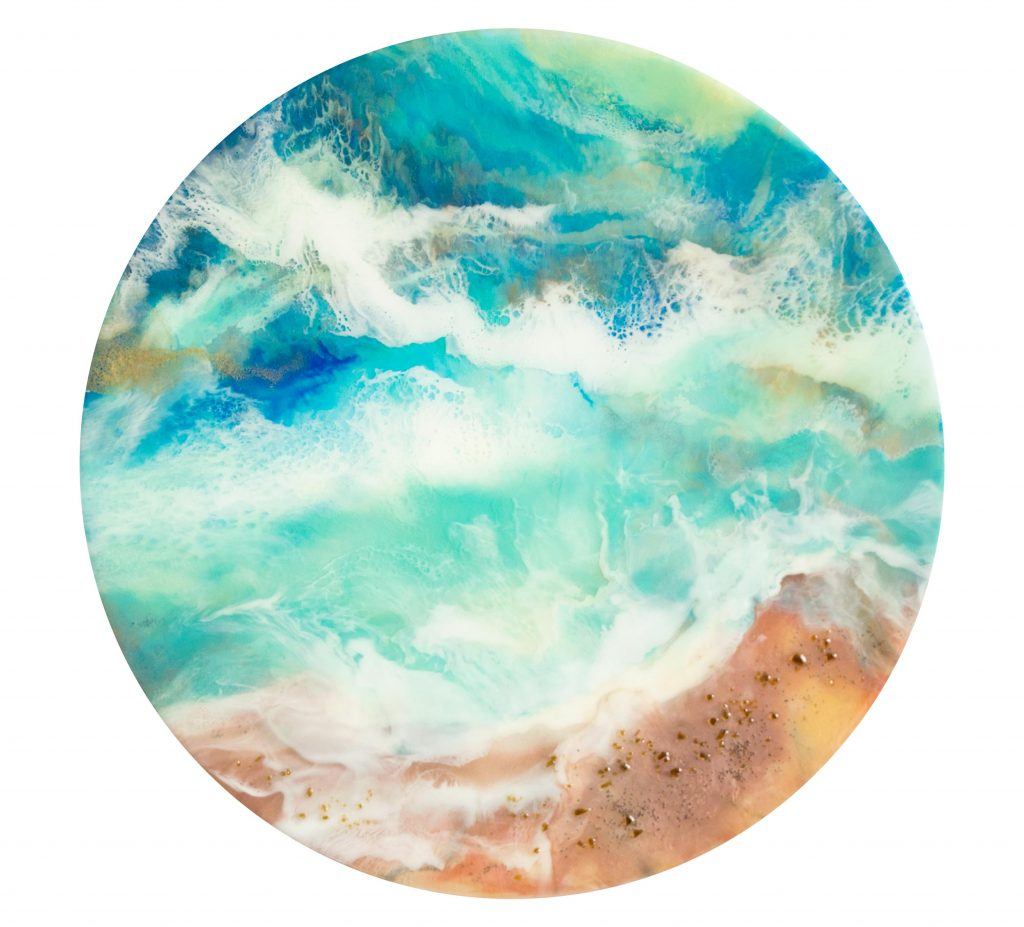 Turquoise Seas - Resin Artwork by Milena Gaytandzhieva
