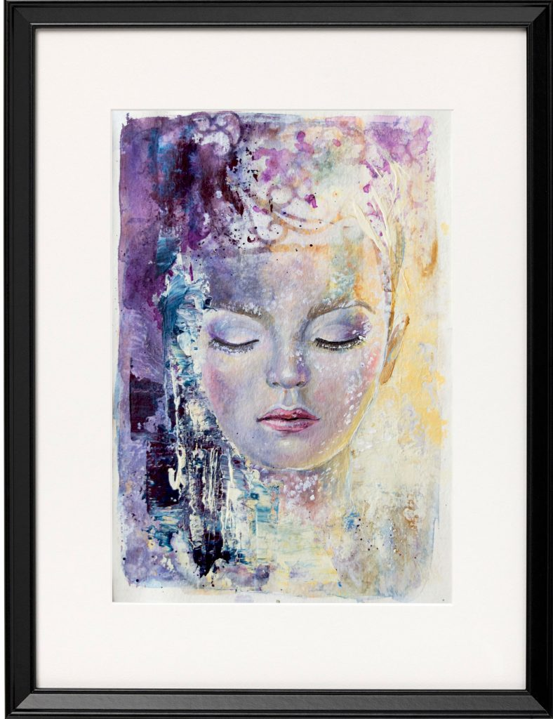 Mixed Media Painting: Sleeping Beauty