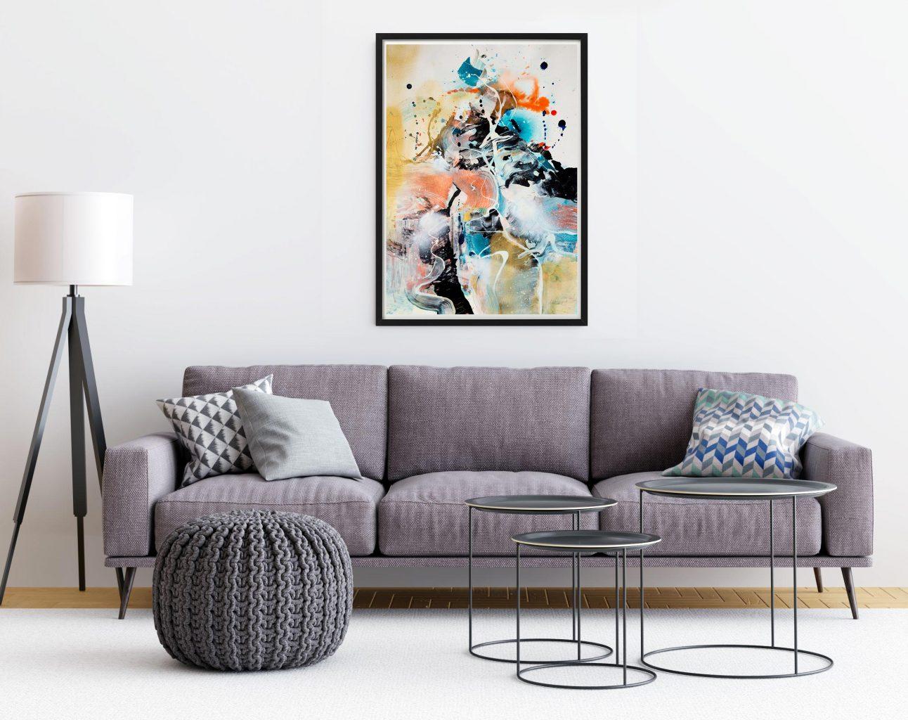 Jazz - original painting by Milena Gaytandzhieva, mixed media
