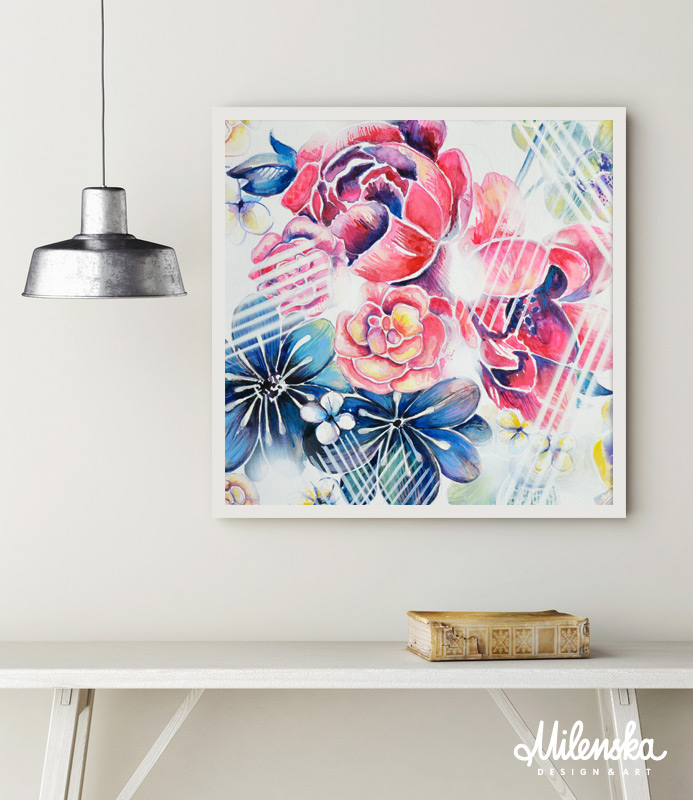 mixed media on canvas, 50x50 cm
