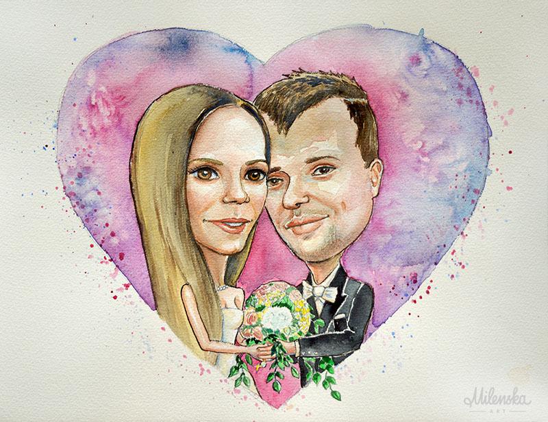 Wedding Caricature Illustration