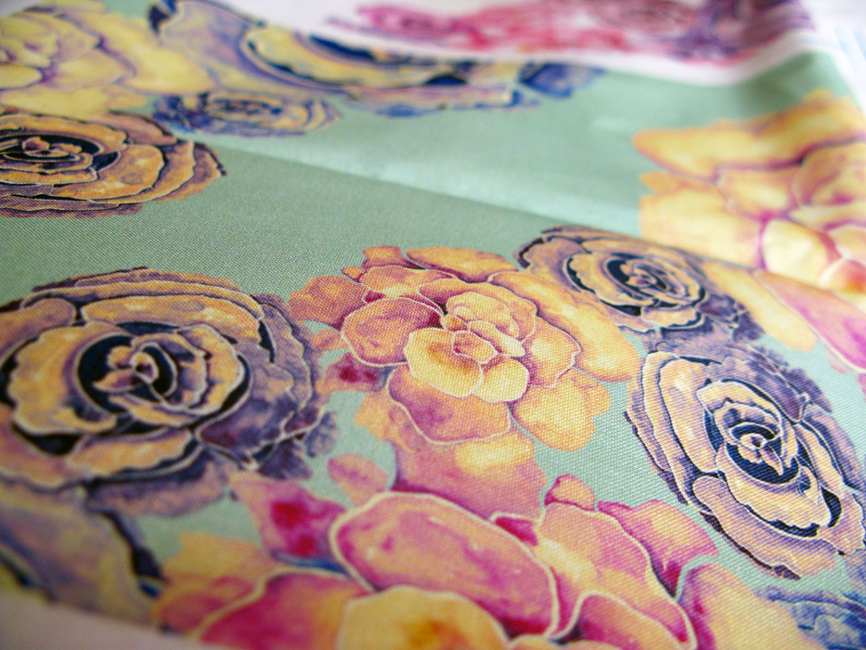 Peony Collection - Fabric Test Print