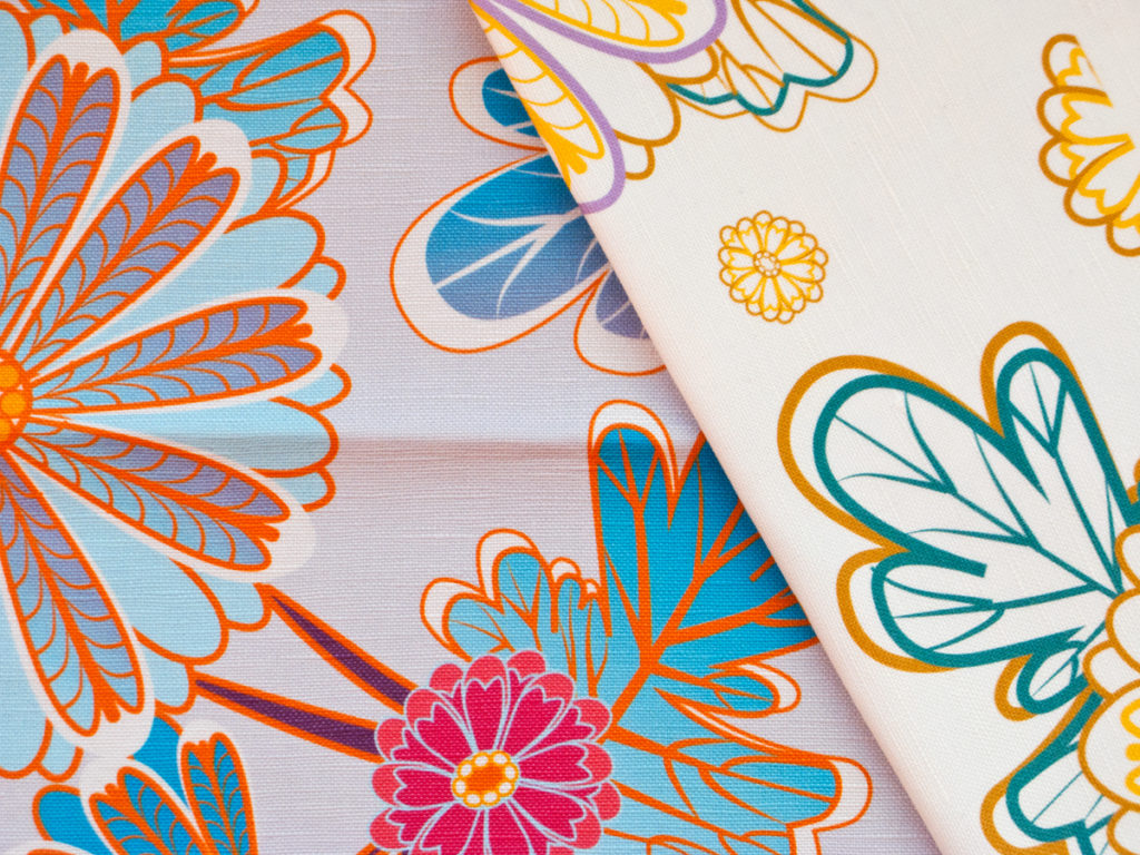 Flower Fabric Design by Milena Gaytandzhieva