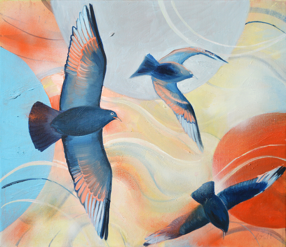 Original Bird painting by Milena Gaytandzhieva Artist