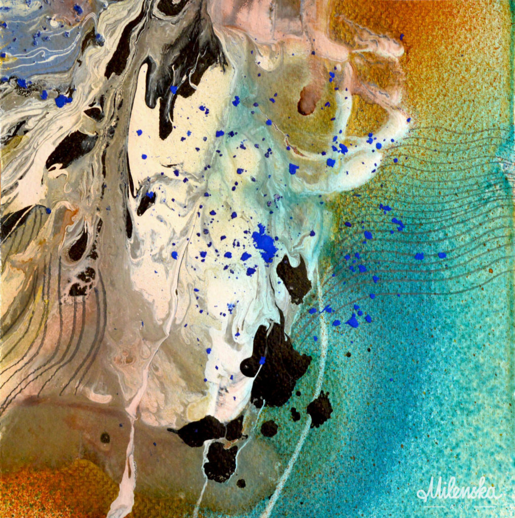 Original marble painting by Milena Gaytandzhieva