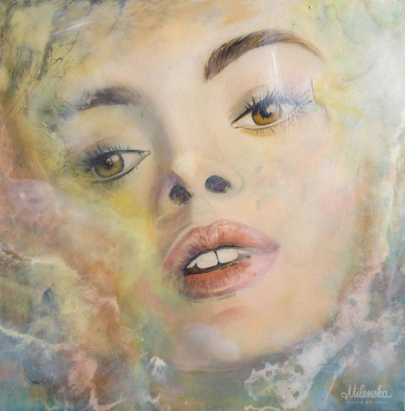 Mixed-media painting