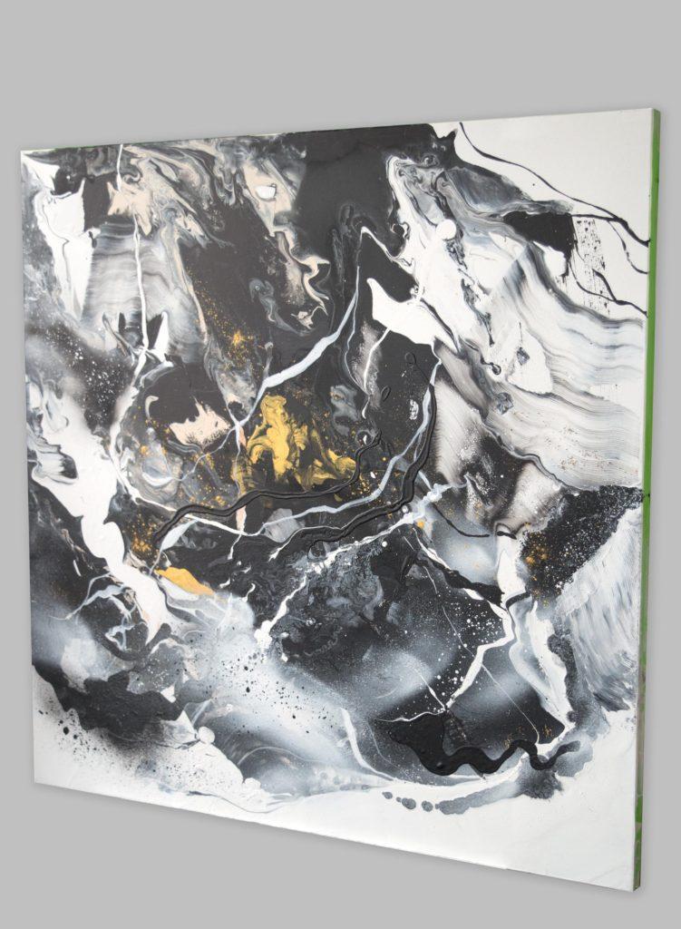 Original black and white painting by Milena Gaytandzhieva