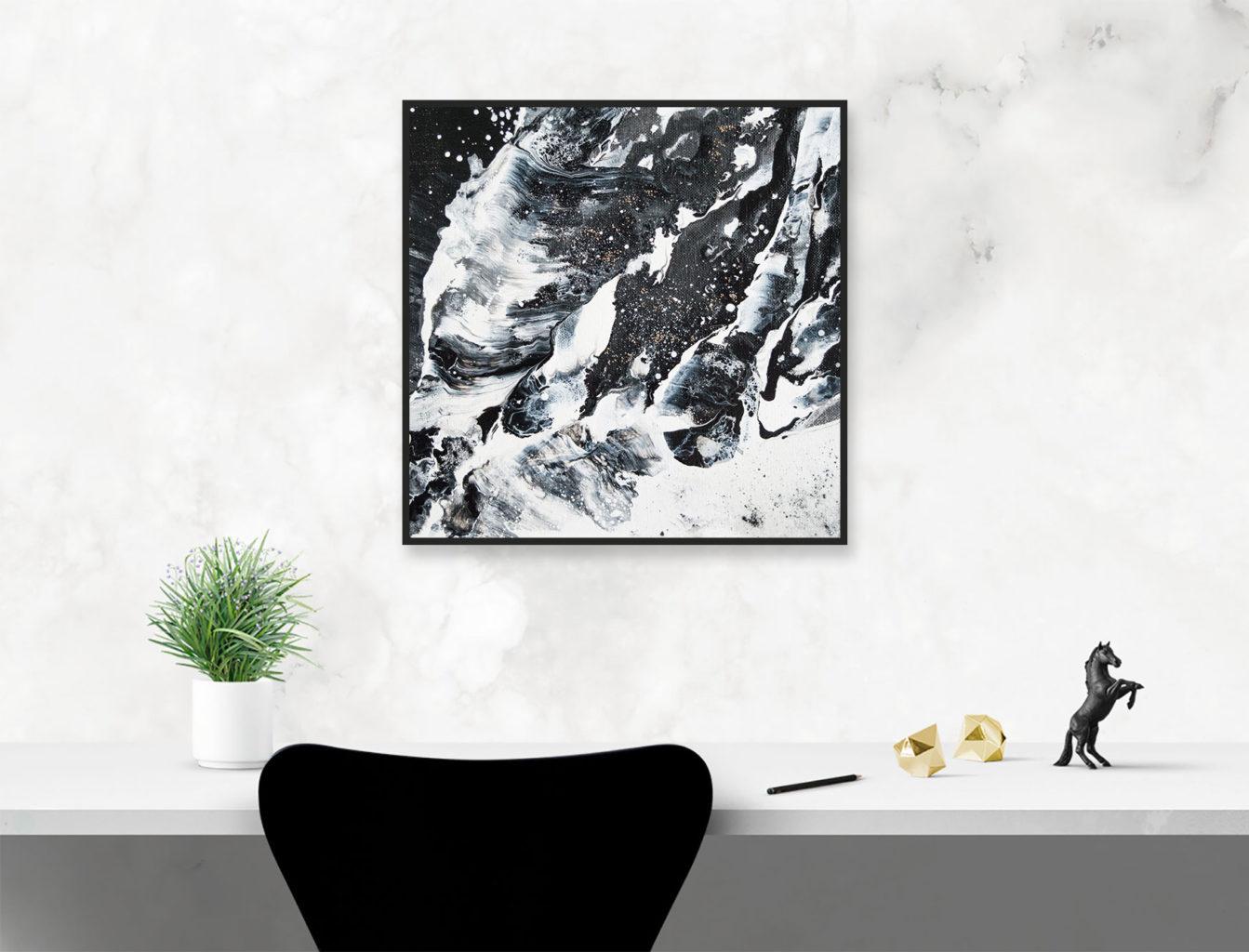 Original abstract black and white landscape by Milena Gaytandzhieva