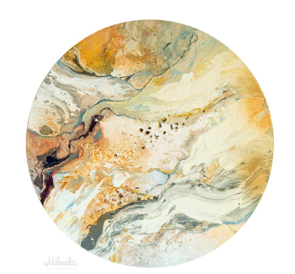 Original circular painting by Milena Gaytandzhieva