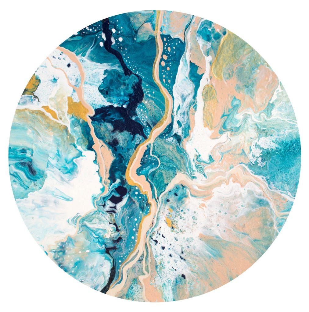 Original round painting by Milena Gaytandzhieva, 40 cm