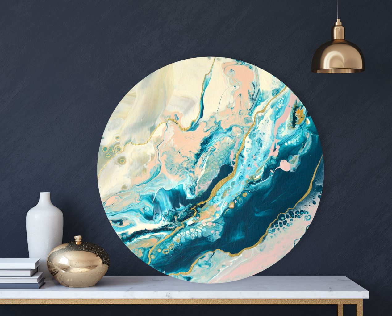 Marble poure painting