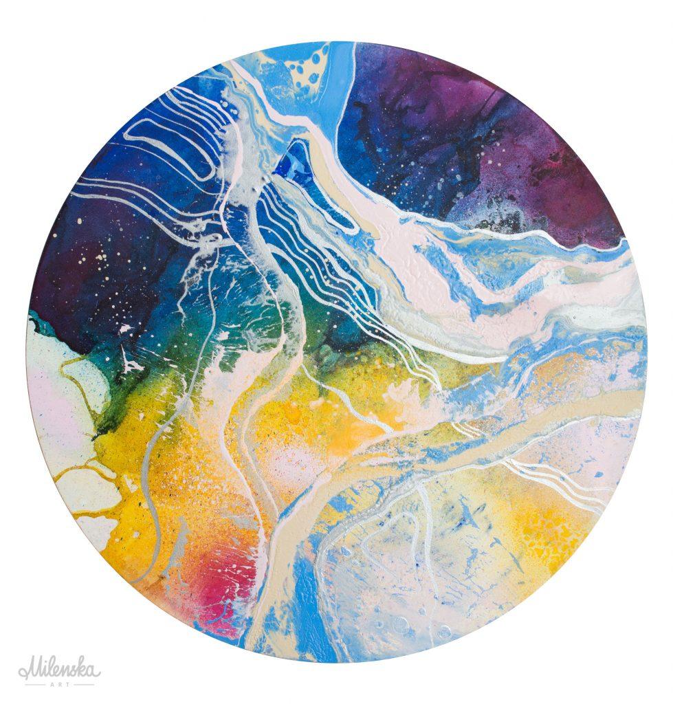 Original abstract painting by Milena Gaytandzhieva