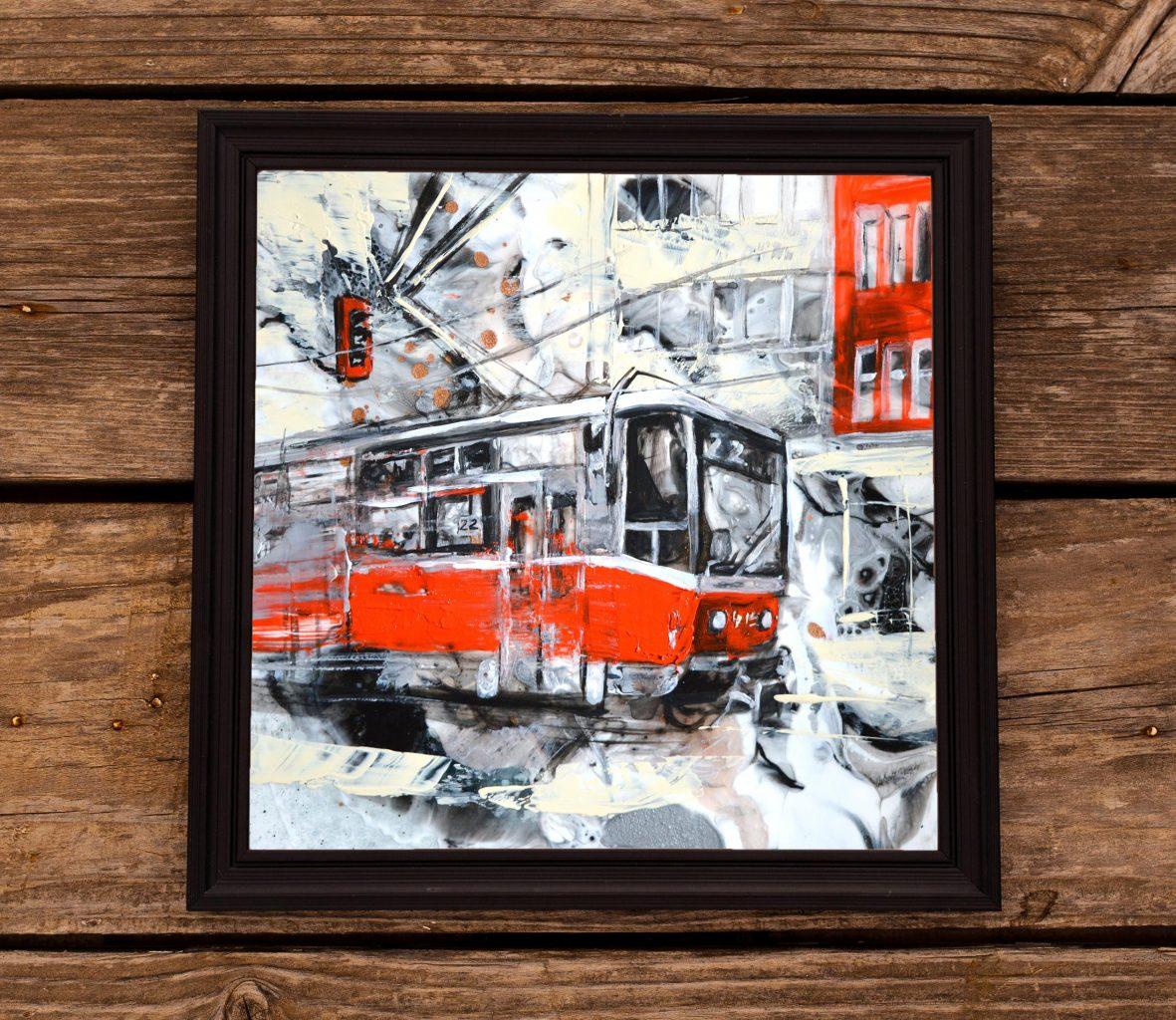 Urban Painting: Sofia Tram by Milena Gaytandzhieva