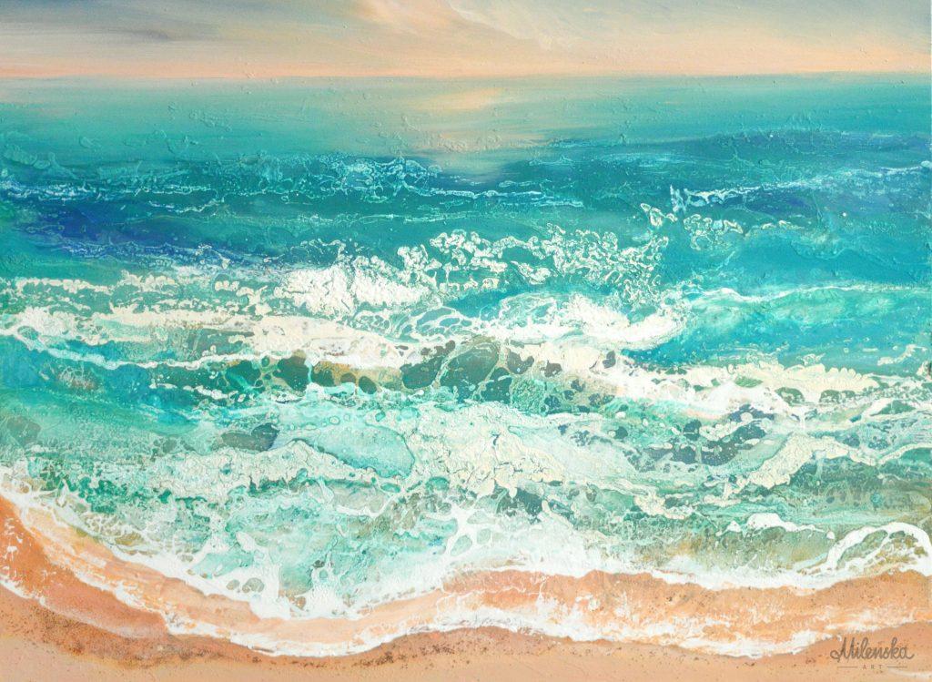 Original modern seascape by Milena Gaytandzhieva
