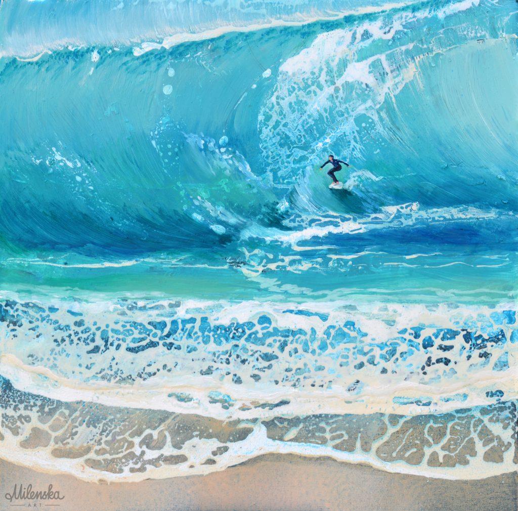 Vacantion 3 - original seascape painting by Milena Gaytandzhieva